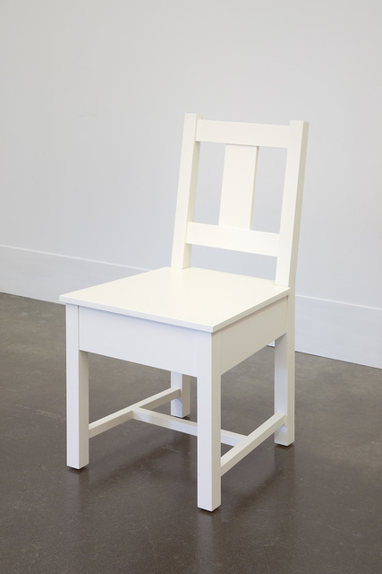 , 'White Slatback Chair,' 1998, Lora Reynolds Gallery