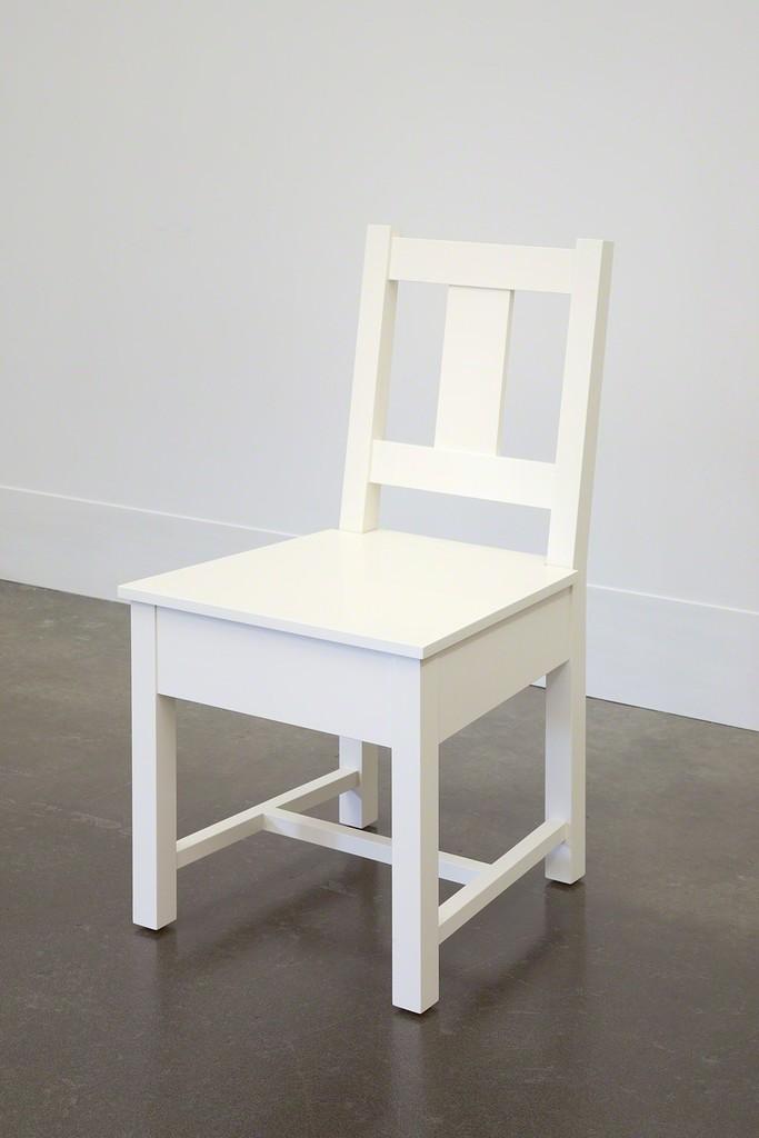 Roy McMakin, 'White Slatback Chair,' 1998, Lora Reynolds Gallery