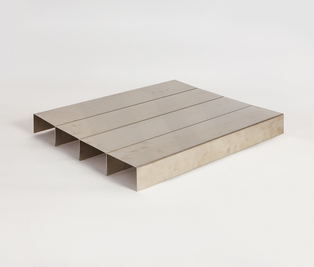 Donald Judd, 'Untitled, from Ten for Leo Castelli (S. I)', 1967, Sculpture, Folded stainless steel multiple, contained in the original gray linen covered box., Phillips