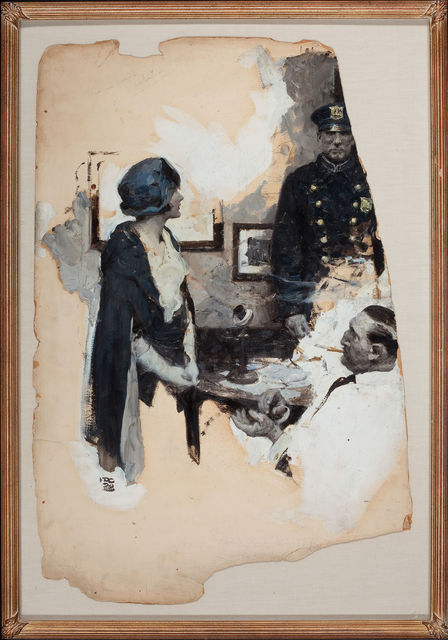 Dean Cornwell, 'At the Precinct, Story Illustration', 1929, Painting, Oil on Board, The Illustrated Gallery