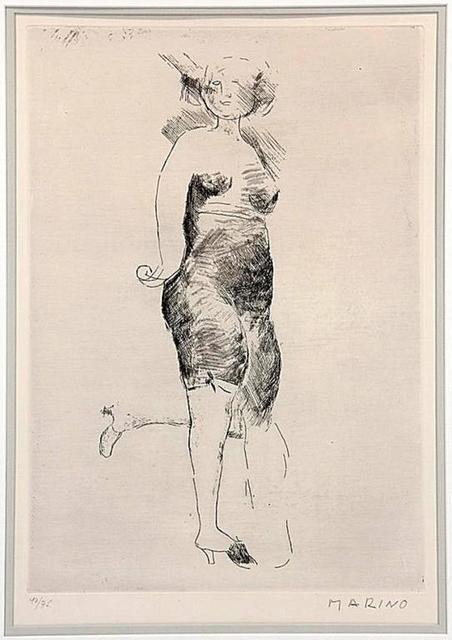 """Marino Marini, 'Marino Marini Etching """"Miracle"""" Hand Signed and Numbered', 20th Century, Lions Gallery"""