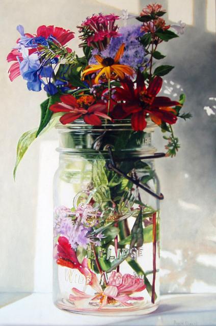 Peggie Blizard, 'Three Red Zinnias ', 2019, George Billis Gallery