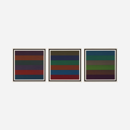 Horizontal Bands with Colors Superimposed (triptych)