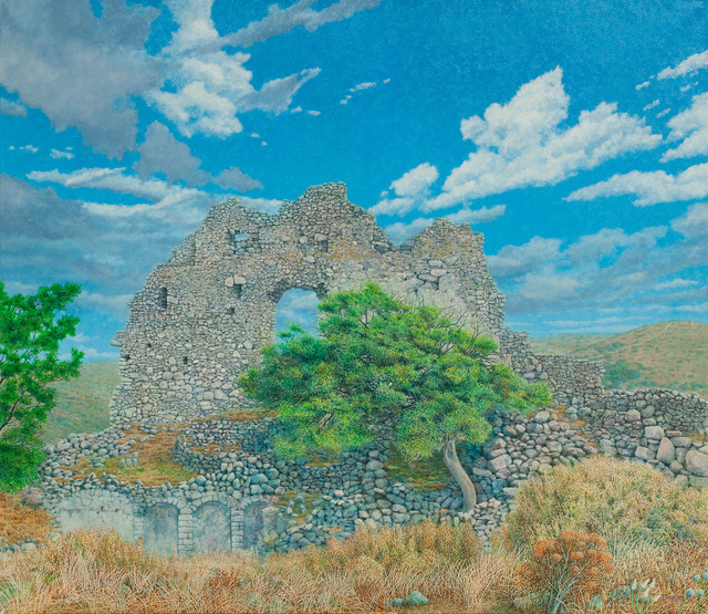 George Tzannes, 'Ancient Ruins at Paliochora With Tree', 1982, Arco Gallery