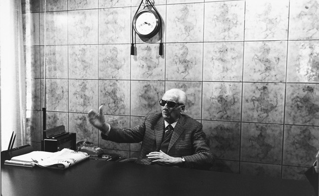 , 'Enzo Ferrari in his office in Modena. 1985,' 1985, Galerie XII