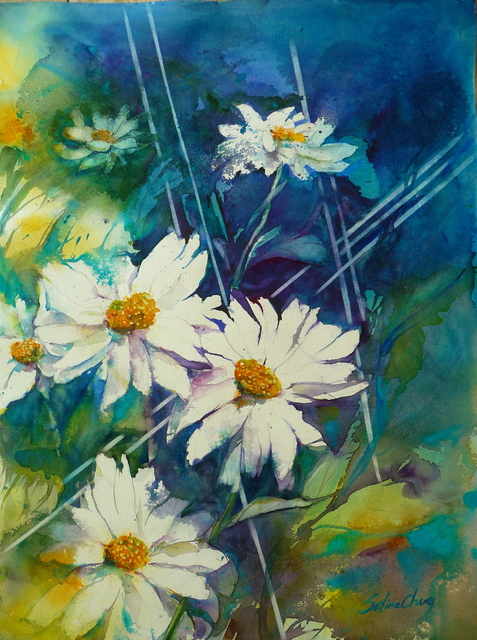 , 'White Daisies,' 2016, Gallery 4 West