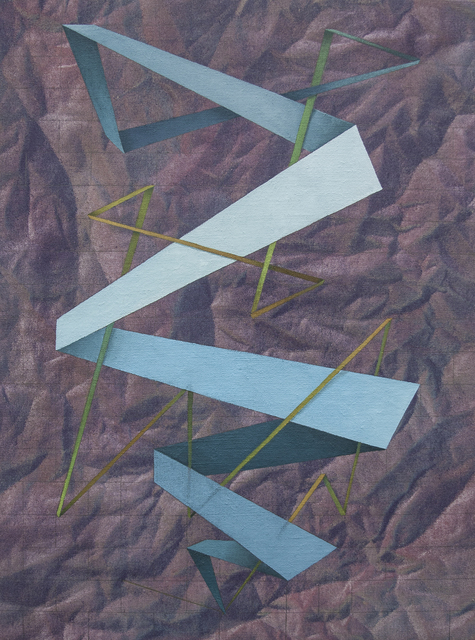 , 'not a straight line, but a zig zag,' 2016, Ro2 Art