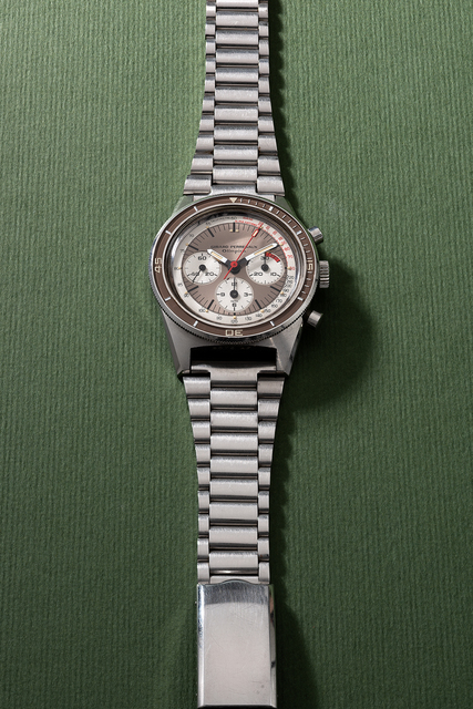 Girard Perregaux, 'A very rare and well-preserved stainless steel chronograph wristwatch with tachymeter scale, bracelet and certificate', 1968, Phillips