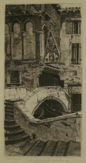 John Taylor Arms, 'Porta del Paradiso, Venice', 1930, Private Collection, NY
