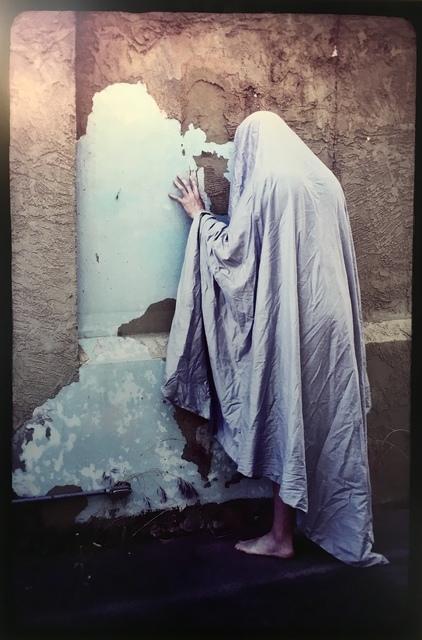 , 'Sheeted Figure at the Paint-Peeling Wall,' 2017, JAYJAY