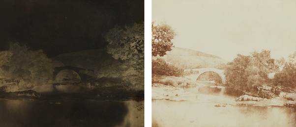 Nevil Story Maskelyne, 'One-Arch Bridge, Breconshire (negative and positive),' 1849, Phillips: The Odyssey of Collecting
