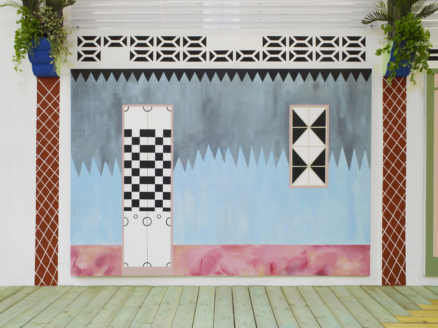 , 'Untitled (Facade 1), Acrylic on canvas 200 x 290 cm,' 2015, Laura Bartlett
