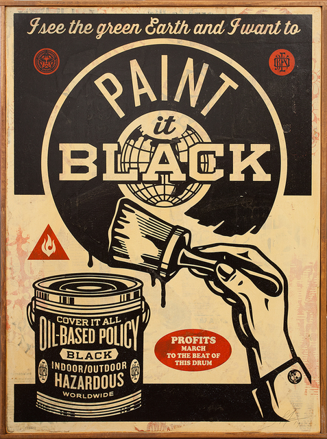 , 'Paint It Black (Brush),' 2014, Subliminal Projects
