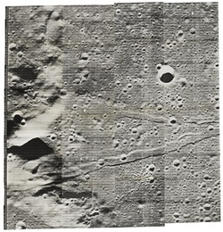 OVERSIZE VIEW OF THE RIMAE PARRY LEADING INTO FRA MAURO CRATER, 15 AUGUST 1967