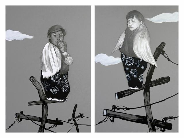 , 'Winged Man and Winged Woman,' 2012, Luis De Jesus Los Angeles