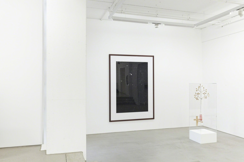 installation view G2 Kunsthalle, Hildebrand Collection, with art works by (from left to right) Thomas Ruff and Björn Dahlem, photo: Dotgain © the artists & G2 Kunsthalle, Leipzig.