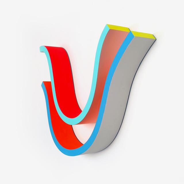 Adam Frezza & Terri Chiao, 'Blue Ridge Warm Waves 1', 2020, Sculpture, Acrylic paint on wood, Uprise Art