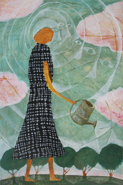 Donald Saaf, 'Woman with Watering Can', 2014, Clark Gallery