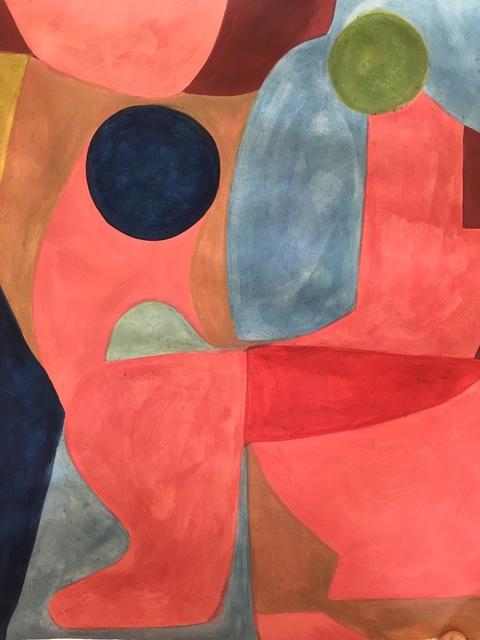 Caroline Denervaud, 'Conversation rouge entre bleu et rose', 2019, Otomys Contemporary