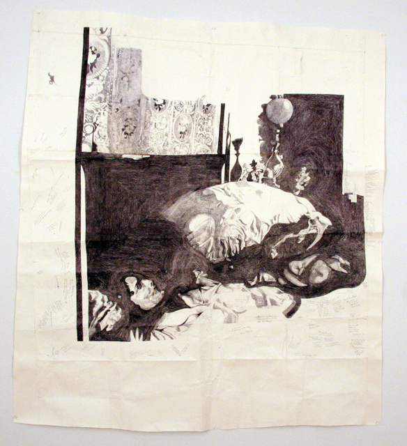 , 'Jessica Drummond in Bed (My Reputation, 1946),' 2012, Pierogi