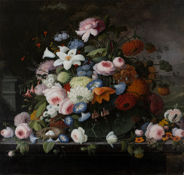 , 'Tabletop Floral with Landscape,' ca. 1860, Vose Galleries