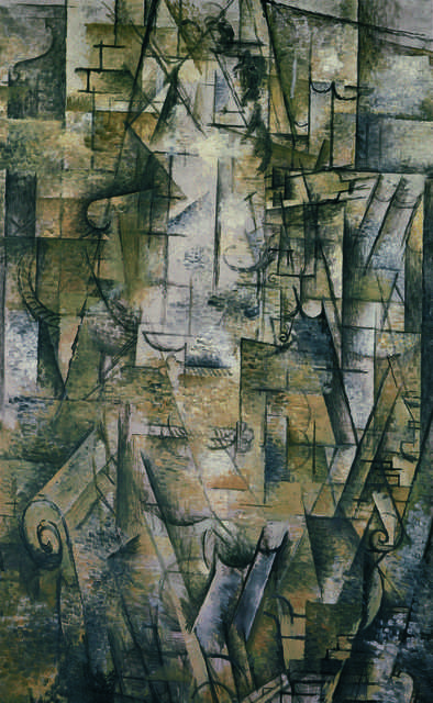 Georges Braque, 'Femme lisant (Woman Reading)', 1911, Painting, Oil on canvas, Fondation Beyeler