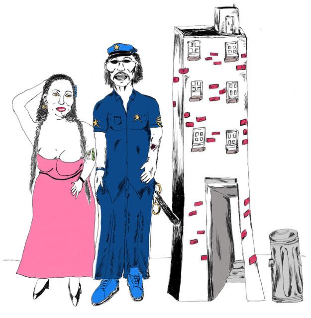 Gerald Wiggins, 'Cop and Model', 2014, Creativity Explored