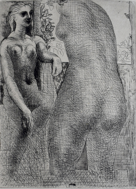 Pablo Picasso, 'Model and Back of Large Sculpture, from: La Suite Vollard | Modèle et grande sculpture de dos: La Suite Vollard', 1933, Gilden's Art Gallery
