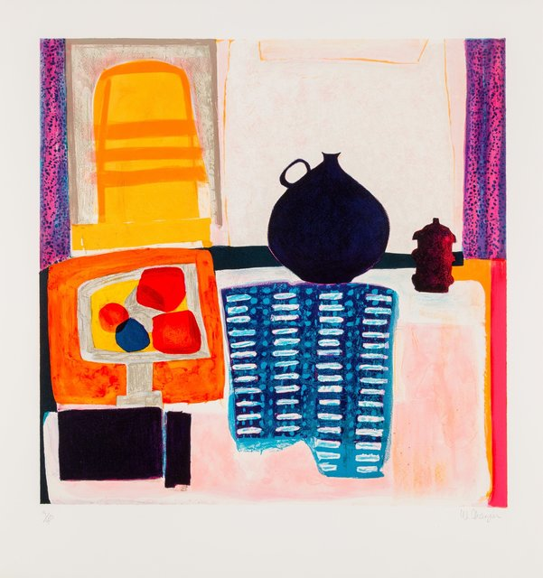 Wendy Chazin, 'Blue Pitcher on Tablecloth', c. 1975, Heritage Auctions