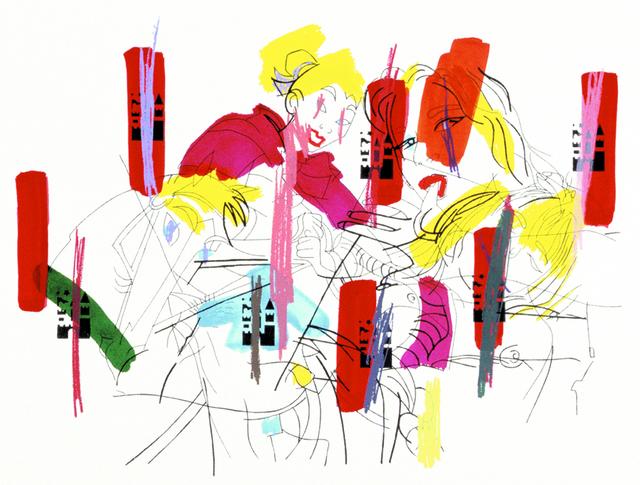 Ghada Amer, 'Sleeping Beauty', 2002, Print, Screenprint and hand painting, Lower East Side Printshop