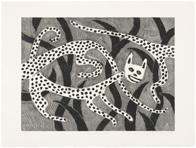 Judy Kensley McKie, 'Leopard Chase II', 1990, Print, Monotype, Gallery NAGA