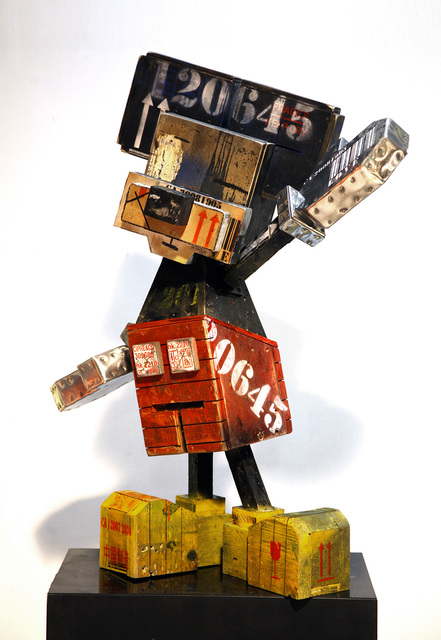 Stéphane Cipre, 'Mouse in the boxes', 2018, Sculpture, Painted wood, Bogena Galerie