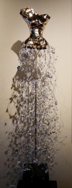 Estella Fransbergen, 'High-polished Bronze Torso with Pearls, Crystals, Quartz & Silver Roses', 2018, Masters Gallery