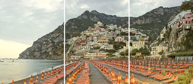 , 'Positano (Triptych), Amalfi Coast, Italy,' 2016, Galerie de Bellefeuille