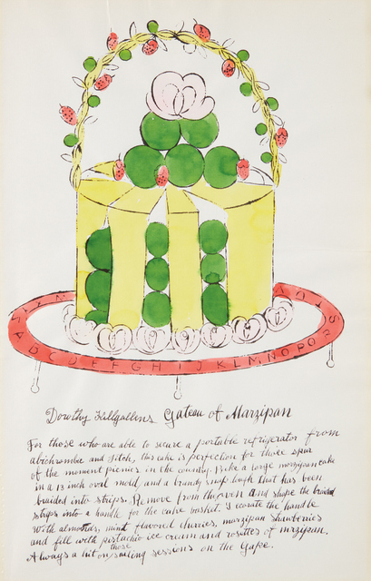 Andy Warhol, 'Dorothy Killgallens Gateau of Marzipan, from Wild Raspberries', 1959, Phillips
