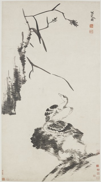 , 'Two Geese,' Qing dynasty-ca. 1700, Smithsonian Freer and Sackler Galleries