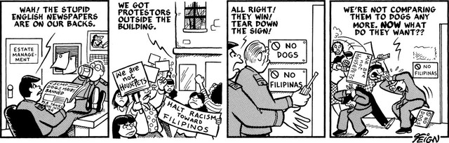 , 'No Dogs, Rats, Roaches or Filipinas,' 1994, Para Site