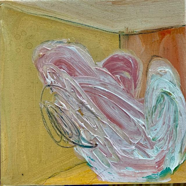 Mani Vertigo, 'Self Portrait in Your Room', 2019, Painting, Oil on canvas, Galleri Duerr