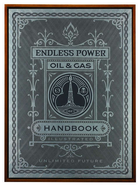 Shepard Fairey (OBEY), 'Oil and Gas Handbook Page', 2015, Underdogs Gallery