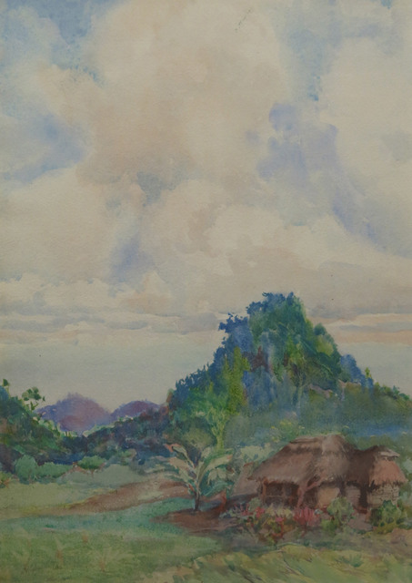 Nelly Littlehale Murphy, 'Thatched Hut in Landscape', 19th -20th Century, Vose Galleries