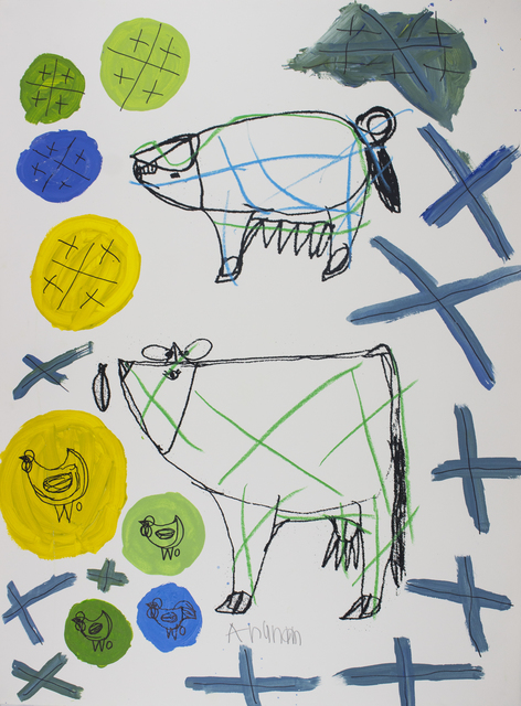 Arunan Dharmalingam, 'Pig, Cow & Blue Crosses', 2017, Studio A