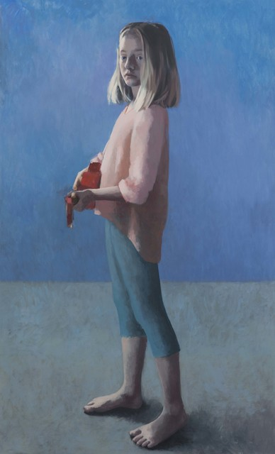 Claerwen James, 'Girl with a Ukulele 3', 2018, Painting, Oil on canvas, Flowers