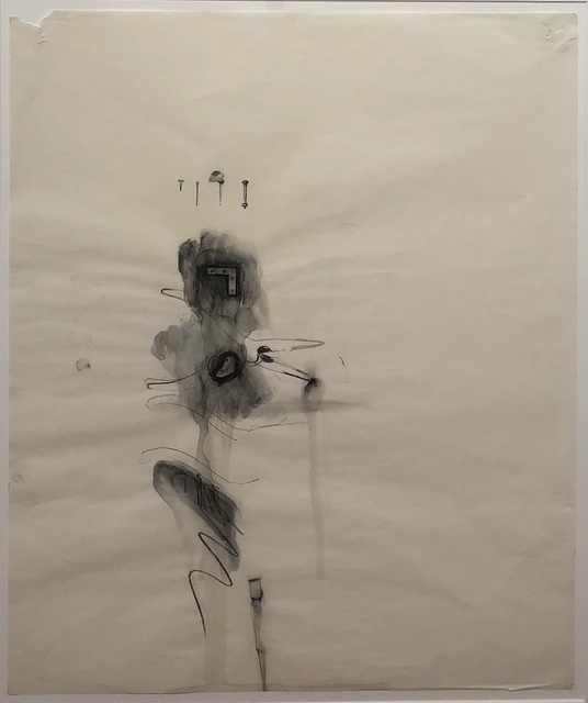 Jim Dine, 'Untitled ', ca. 1960, Drawing, Collage or other Work on Paper, Charcoal and Gouache on Paper, Gaa Gallery