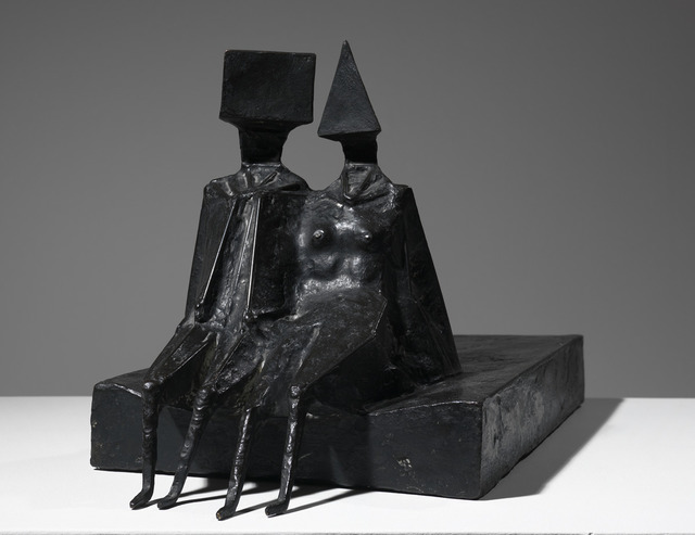 , 'Sitting Couple on Base II,' 1972, Osborne Samuel