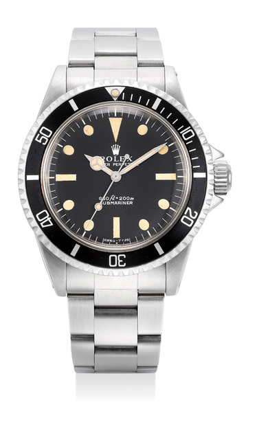 Rolex, 'A fine and rare stainless steel diver's wristwatch with bracelet', 1972, Phillips