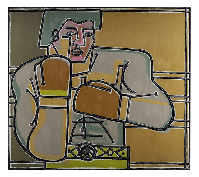 , 'Gold Belt Boxer,' 2019, Wally Workman Gallery