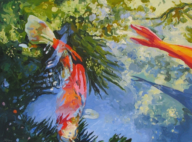 , 'Two Koi June,' 2016, Beth Urdang Gallery