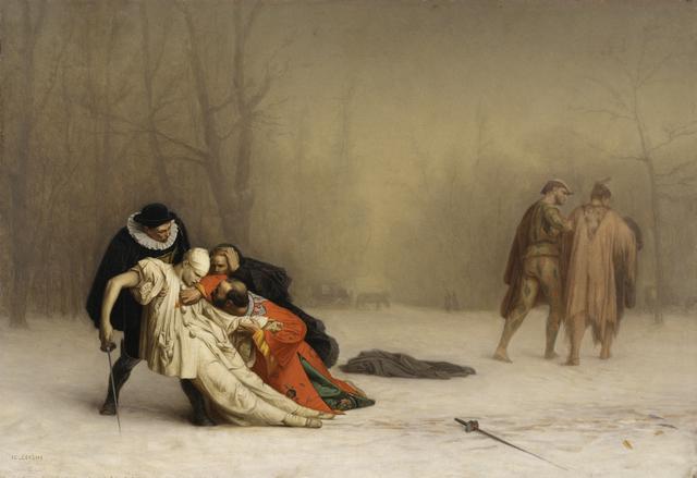 Jean-Léon Gérôme, 'The Duel After the Masquerade', 1857-1859, Walters Art Museum