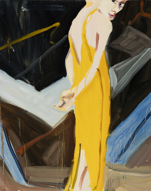 , 'Yellow Evening Dress,' 2016, Galerie Forsblom
