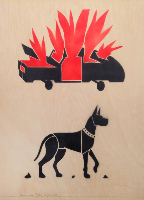 , 'Burning Car with Great Dane,' 1980-1981, P.P.O.W